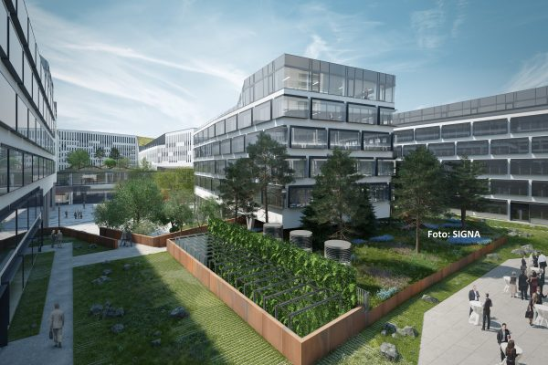 Erste Baufelder am Austria Campus an Signa übergeben