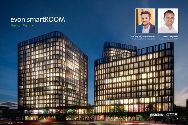 ICON Vienna – evon smartROOM Arbeitsplatz der Zukunft
