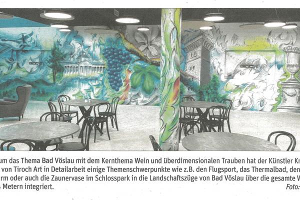 NÖN: Gigantische Wandkunst in Bad Vöslau