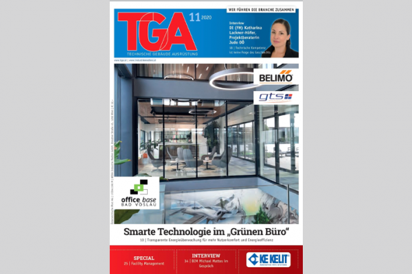 """Smarte Techologie im Grünen Büro"" – Fachzeitschrift TGA 11/2020"